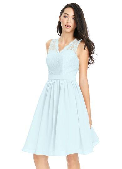 AZAZIE CIERRA. Cierra is one of our knee-length dress bestsellers. #Bridesmaid #Wedding #CustomDresses #AZAZIE