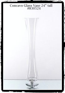 Glass Vase Concavo 24 inches tall # 830524