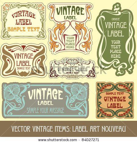 vector vintage items: label art nouveau by standa_art, via Shutterstock