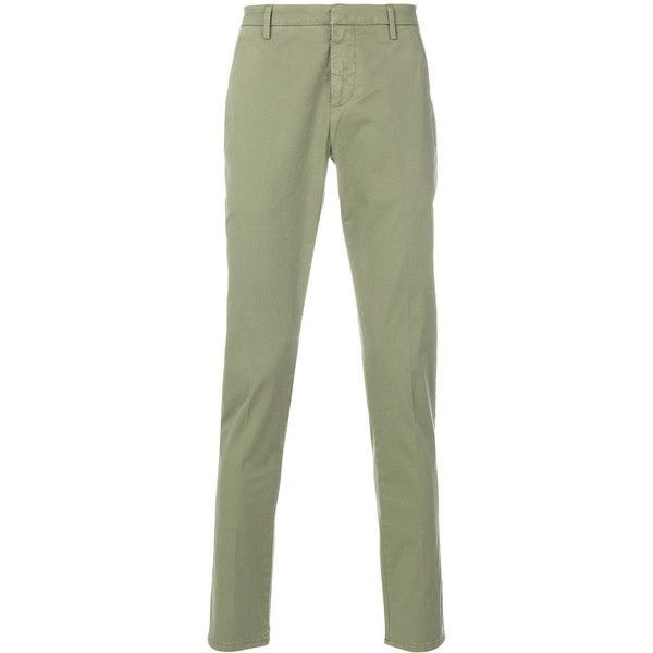 Dondup Cotton Chino Pant ($270) ❤ liked on Polyvore featuring men's fashion, men's clothing, men's pants, men's casual pants, green, mens chino pants, mens green chino pants, mens chinos pants and mens green pants