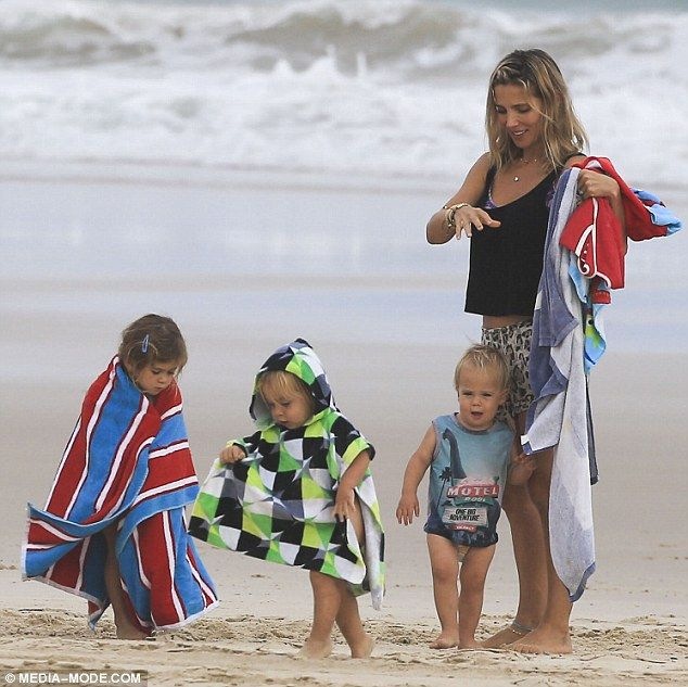 Family: Chris Hemsworth and Elsa Pataky are proud parents to children India Rose, three, (L) and two-year-old twin sons Tristan and Sasha (seen here in December 2015)
