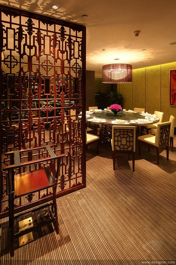Private dining room at yong yi ting restaurant at the for Hae yong interior designs