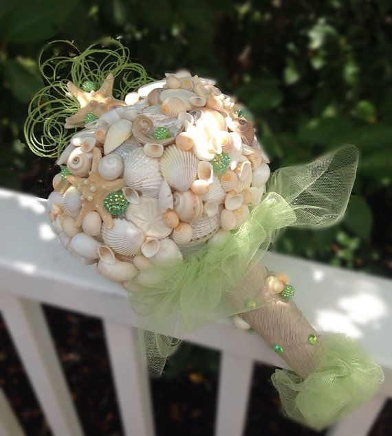 Starfish Bouquet Sea Shell BouquetBeach Destination Wedding By BeachBasketBride On Etsy