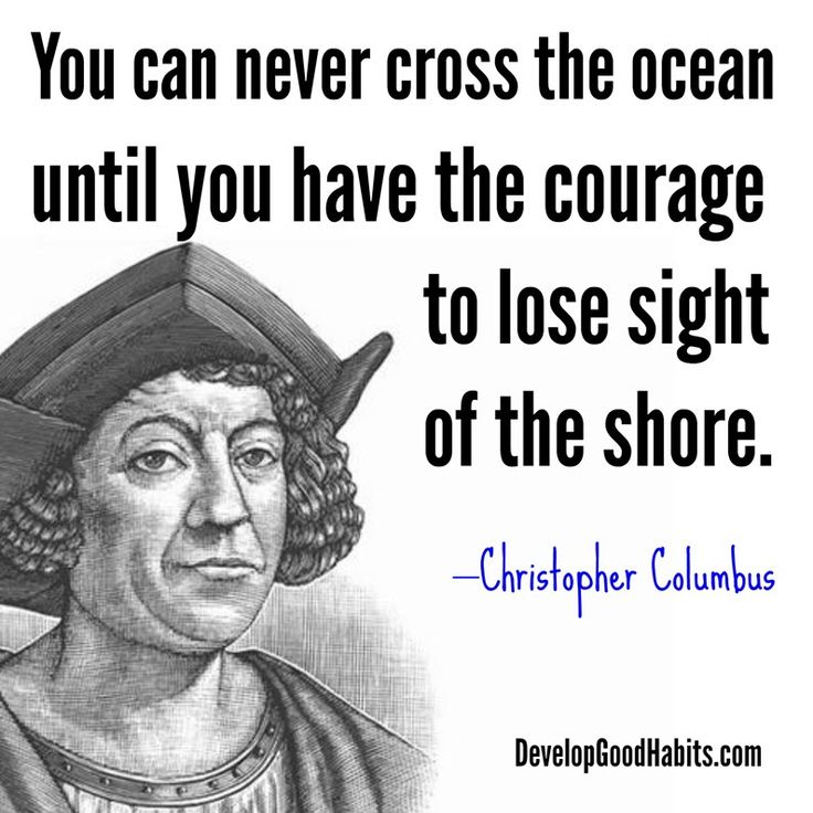 Historic Christopher Columbus Success quote