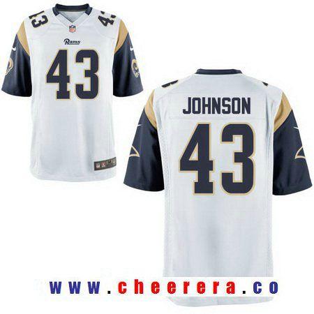 db0f462ce Nfl jerseys · Men s 2017 NFL Draft Los Angeles Rams  43 John Johnson White  Road Stitched NFL Nike