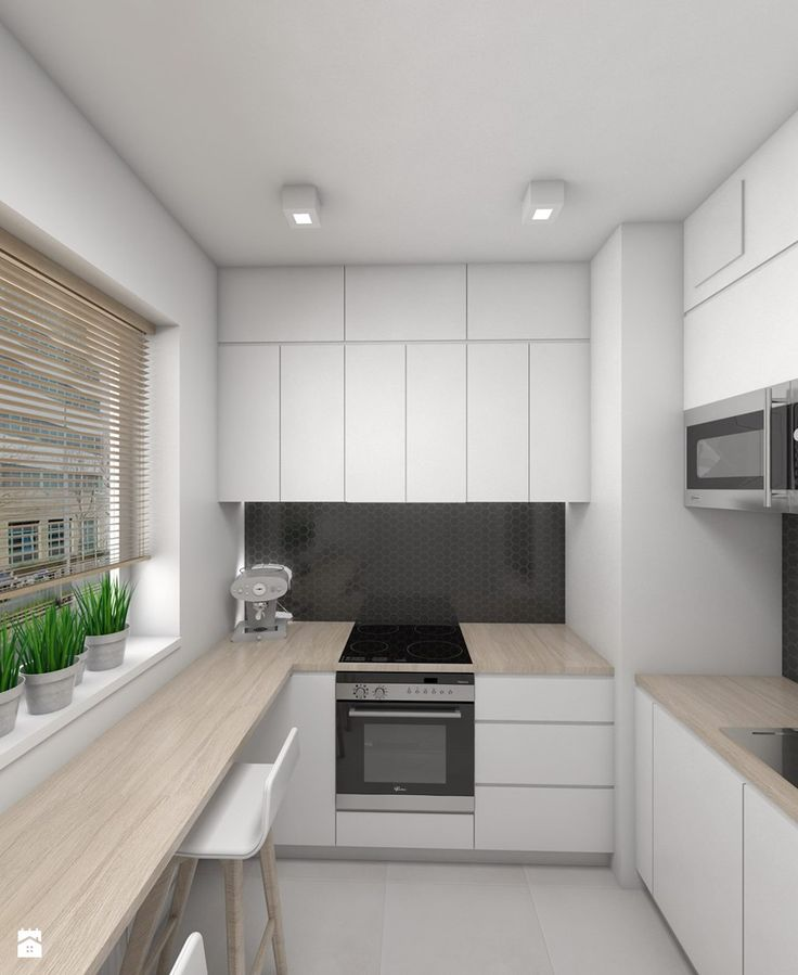 Aranżacje wnętrz - Kuchnia: Mała i funkcjonalna kuchnia - Dizajnia art - studio projektowe. Przeglądaj, dodawaj i zapisuj najlepsze zdjęcia, pomysły i inspiracje designerskie. W bazie mamy już prawie milion fotografii!
