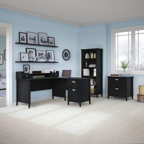 Found it at Wayfair - Connecticut 5-Piece L-Shape Desk Office Suite