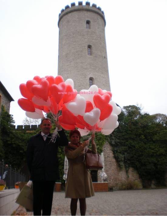 Helium Herzluftballons zur Hochzeit