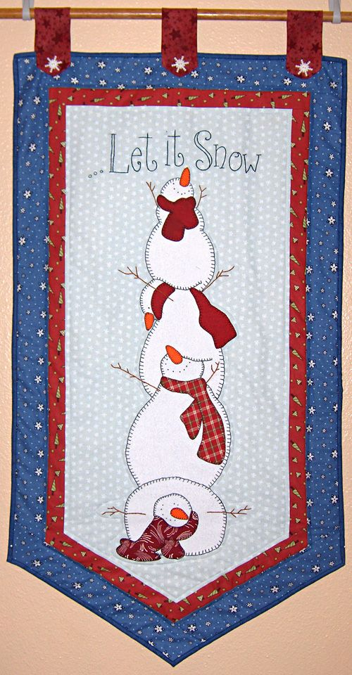 Gifty Galore 2011: Let it Snow wall hanging » Notions