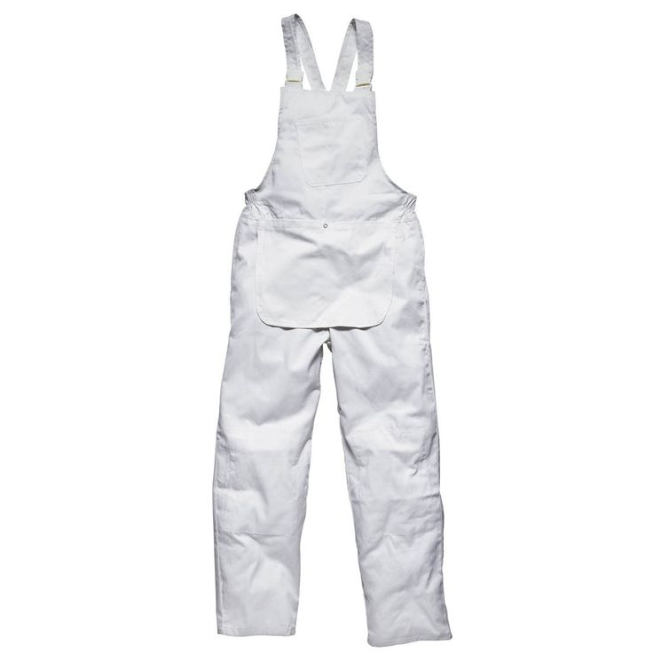 Dickies Redhawk WD650 White Professional Painters Bib and Brace Overalls
