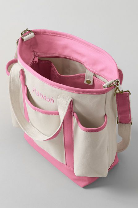canvas diaper bag from lands 39 end i really like this one. Black Bedroom Furniture Sets. Home Design Ideas