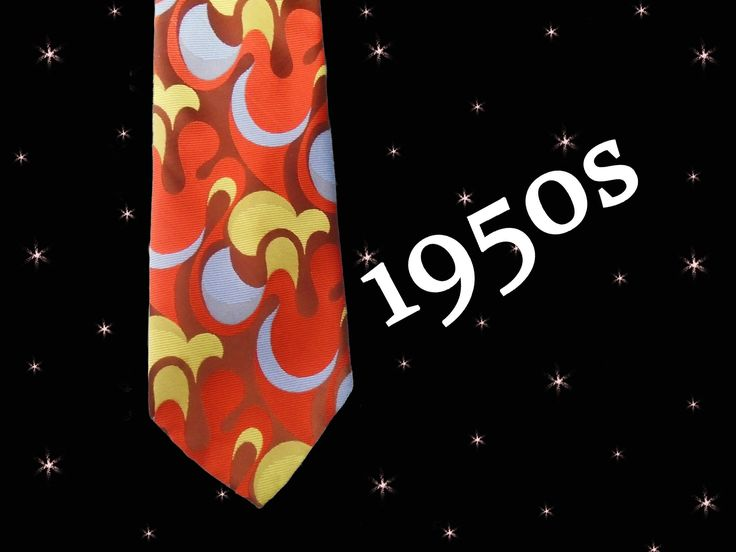 50s Geek Tie is a Super Wide Necktie is Trippy Psychedelic and a Really LOUD Necktie, 1950s Vintage Over 4 inches Wide, Extra Long Tie by LunaJunctionVintage on Etsy