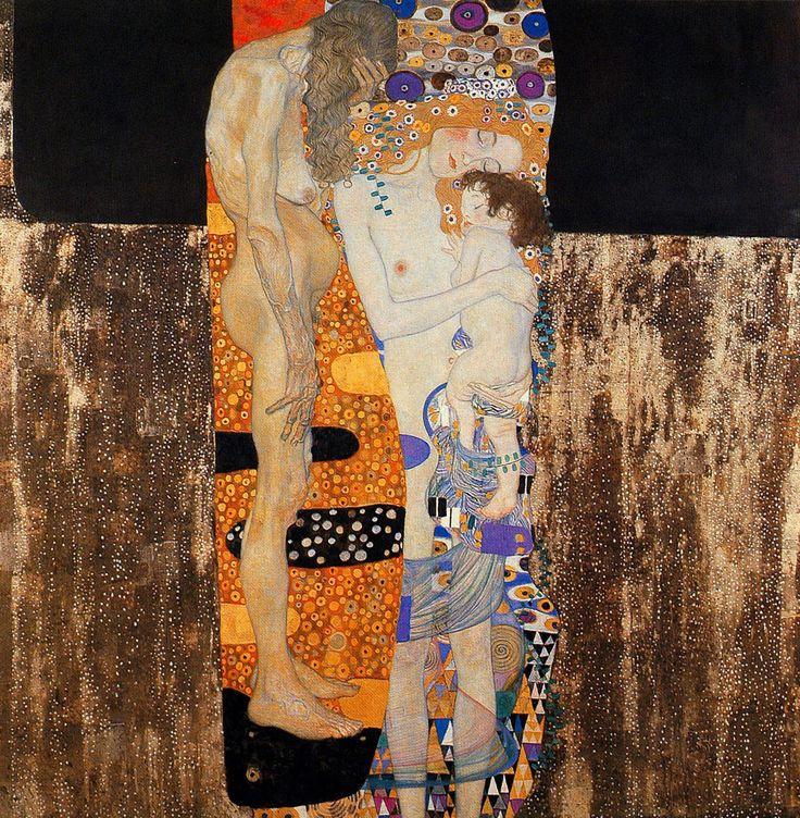 [フリー絵画素材] グスタフ・クリムト - 人生の三段階 (女の生の三段階) (1905) ID:201307201800
