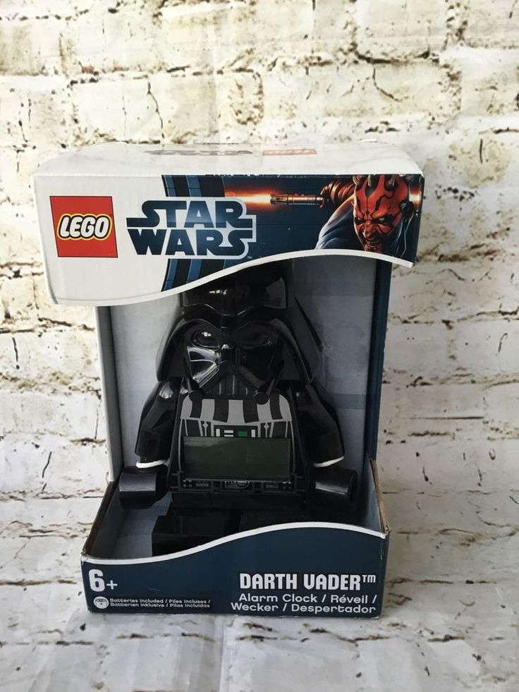 NEW LEGO Star Wars Darth Vader Kids Moveable Minifigure Alarm Clock #Lego