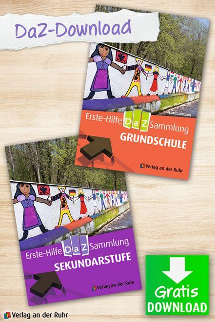 Das Thema #Flüchtlinge beschäftigt die Welt. In den Schulen steigt der Bedarf an #Materialien, die Kindern und Jugendlichen das #Deutschlernen erleichtern. Wir möchten daher allen, die haupt- oder ehrenamtlich mit Flüchtlingen arbeiten, eine Hilfestellung geben und haben fix und fertige Materialien für Deutsch als #Zweitsprache zusammengestellt, die Sie kostenlos herunterladen und direkt einsetzen können. | #DaZ #Gratis #Download #Kopiervorlagen #Grundschule #Sekundarstufe #Freebie