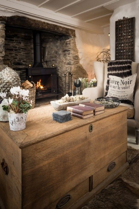 Curl up by the log fire during the cooler months - bliss