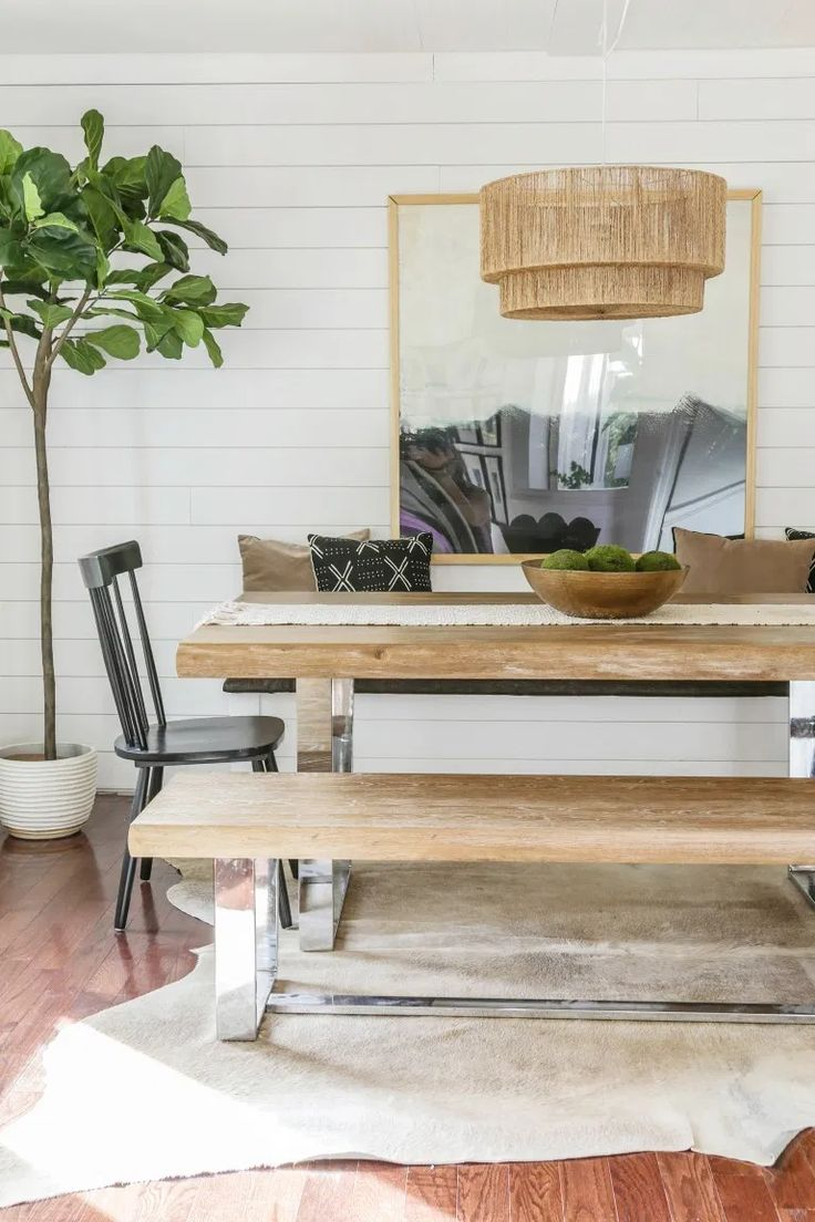Reveal: Dining Room Office Combo with DIY Built In Storage ...