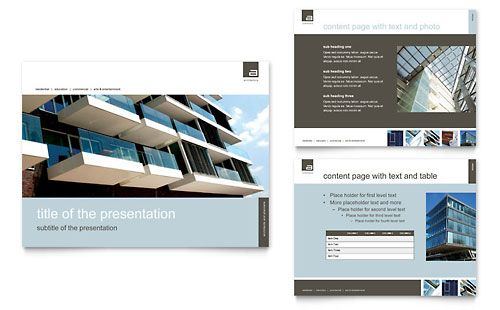 Architect PowerPoint Presentation Template Design | StockLayouts