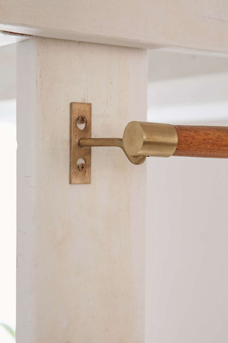 Adjustable Curtain Rod Brackets Wood County Pole Light Home Decor