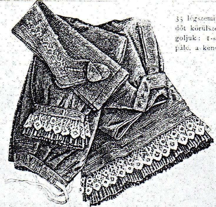 Flanel drawers with modesty-petticoat and stockings from Budapesti Bazár 1878