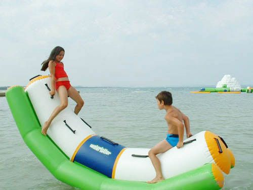 Inflatable water Toys, on water pool, Lake, oceanside, Park, water resort for entertaiment, amusement equipment play. QH Group Amusement Equipment Co.,Ltd, which has mainly specialized in manufacturing,  technology developing, and selling high-quality inflatable toys, trampoline, basketball machine,kidsbattery car,clip doll machine for over 10 years. Thanks in advance if you are interested in.
