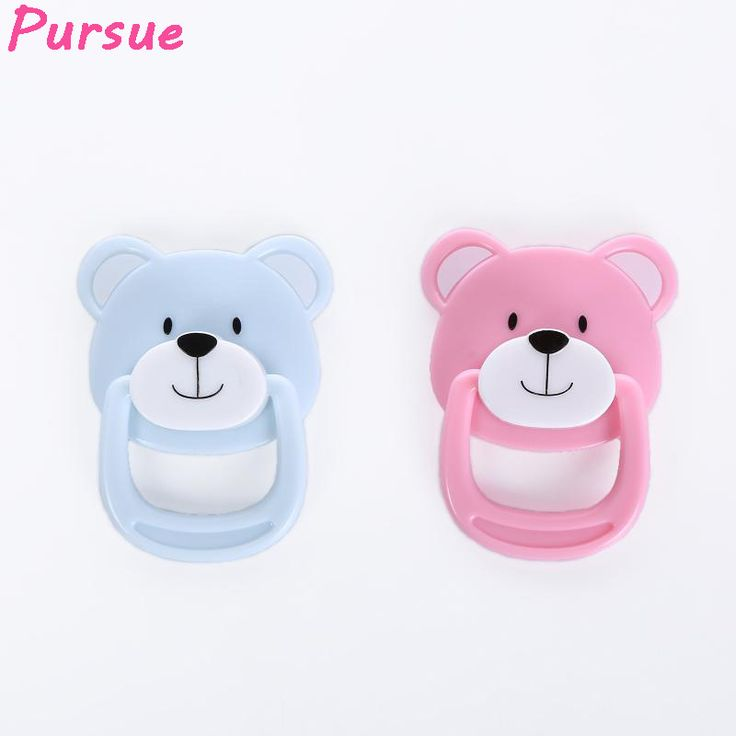 Pursue 5pcs/lot Dolls Accessories Cute Bear Magnet Pacifier Dummy for Reborn Baby Doll Pink Blue Dummy Doll Baby Magnet Pacifier #Affiliate