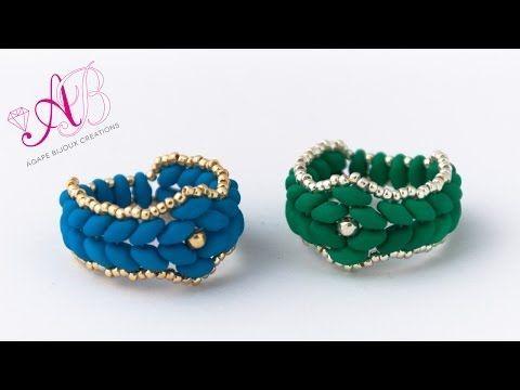 DIY Tutorial Anello Atene - anello con Superduo Neon e Rocailles - YouTube