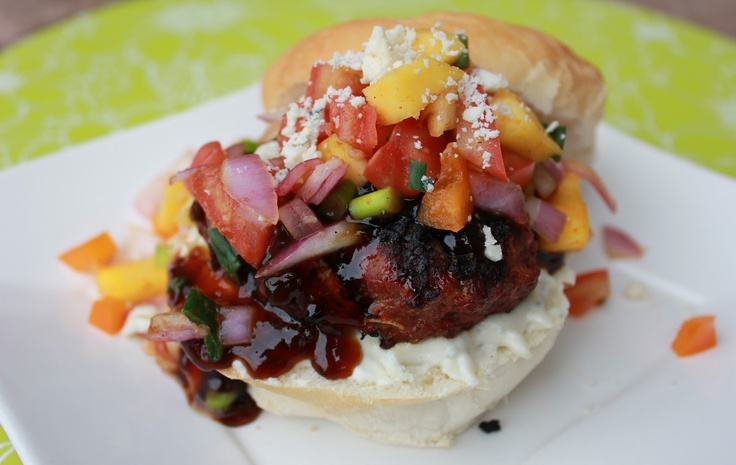 Gorgonzola Teriyaki Burgers--sounds gourmet but surprisingly simple.  These burgers are filled with Asian flavor & the creamy gorgonzola sauce makes these a perfect 10! Great for Memorial Day BBQ's ;)  (recipe from Deals to Meals): Gourmet Burgers, Meals, Mmmm Recipes, Gorgonzola Teriyaki, Teriyaki Burgers This, Deals, Favorite Recipes, Burgers Sounds Gourmet, Teriyaki Burgers Sounds
