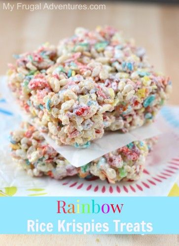 Rainbow Rice Krispie Treats Recipe