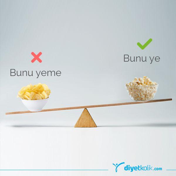 Film keyfine cips yerine yağsız hazırladığın patlamış mısır eşlik etsin! Böylece daha az kalori almış olacaksın :) #beslenme #diyet #diyetisyen #kalori