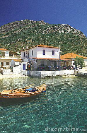 small Greek restaurant in Pilion, greece by Alanesspe, via Dreamstime