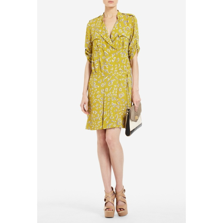 THERES LEOPARD-PRINT CARGO DRESS by BCBG... I love how comfortable this looks.Fun Mustard, Fabulous Dresses, Cargo Dresses, Mustard Leopards Lov, Shirtdress Amomentinstyle Com, Leopards Prints Cargo, Day Dresses, Dressy Dame, Dreams Closets