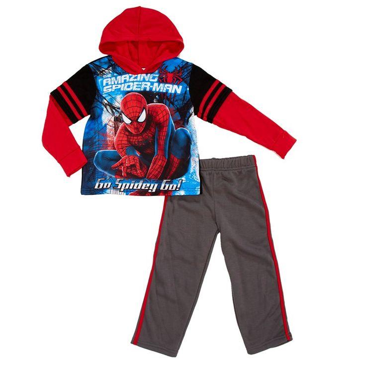 2pc Spider-Man 2fer Set (4-7) gris, rojo y azul