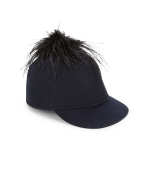 d41d17844274d EUGENIA KIM Alex Ostrich Feather and Wool Felt Cap.  eugeniakim ...
