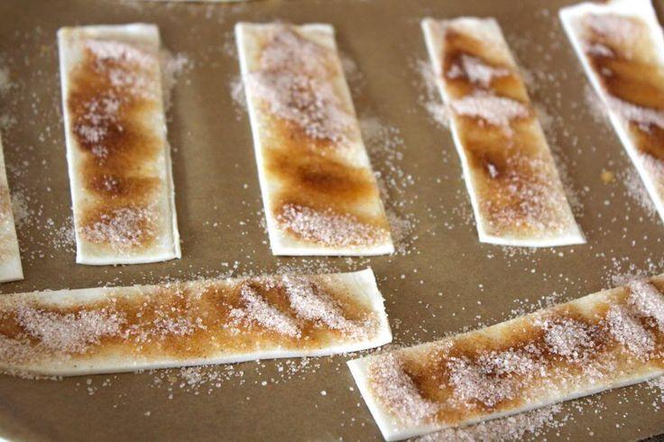Suiker kaneel met bladerdeeg