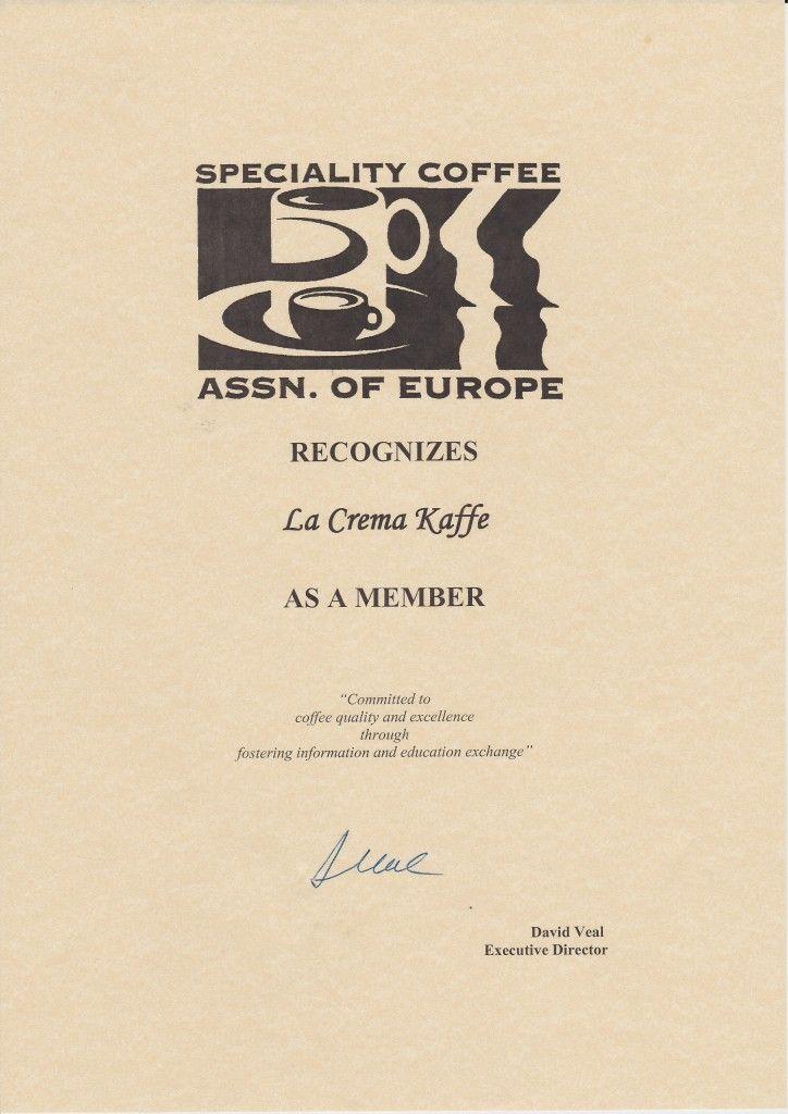 La Crema Kaffe Scae Member