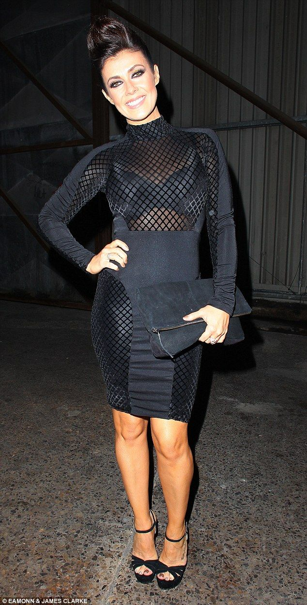 Wow factor: Kym, 39, showed off her toned curves in her sexy little black dress, which fea...