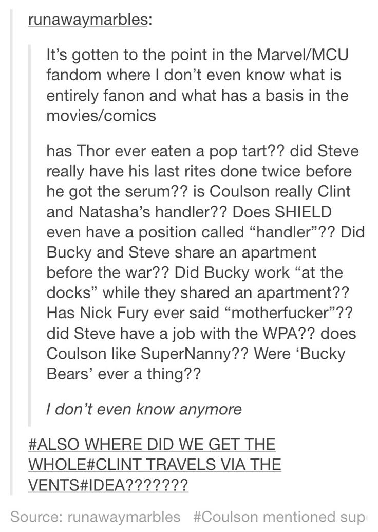 I know the answers to two of them. 1) Thor did eat two boxes of pop tarts in the movie Thor and 2) whether or not Coulson likes SuperNanny, he did tell Tony in Iron Man 2 that he would 'taze him and watch SuperNanny while he drooled into the carpet.'