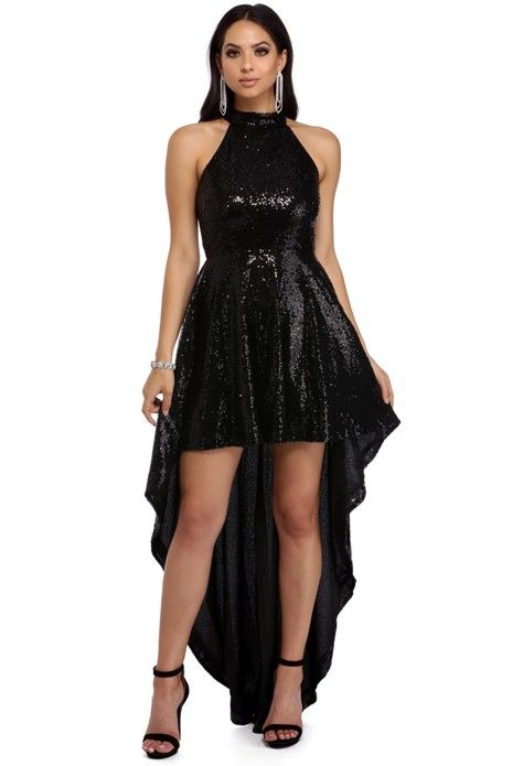 Vivi Black Sequin Party Dress | WindsorCloud
