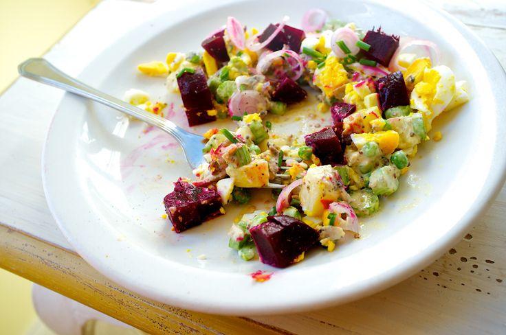 Smoked Herring Salad | TOM HIRSCHFELD