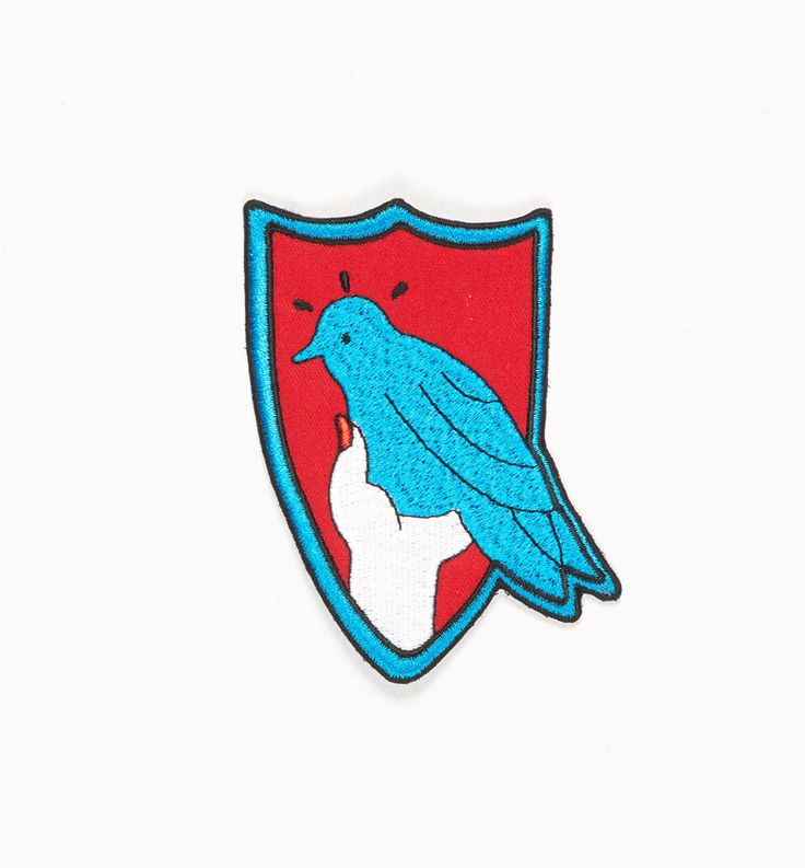 embroidered patch the Bird | by Parra