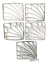 Zentangle Pattern....looks like a dragon wing!