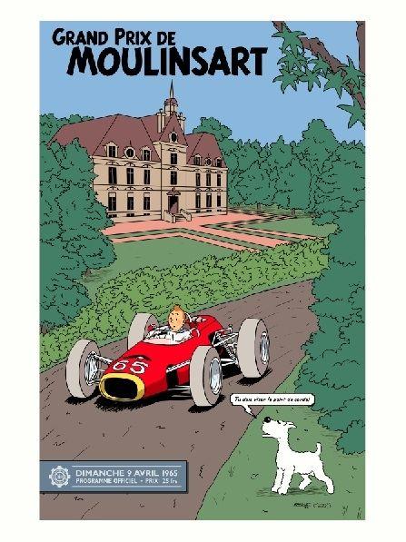 Grand Prix de Moulinsart Tin Tin Poster