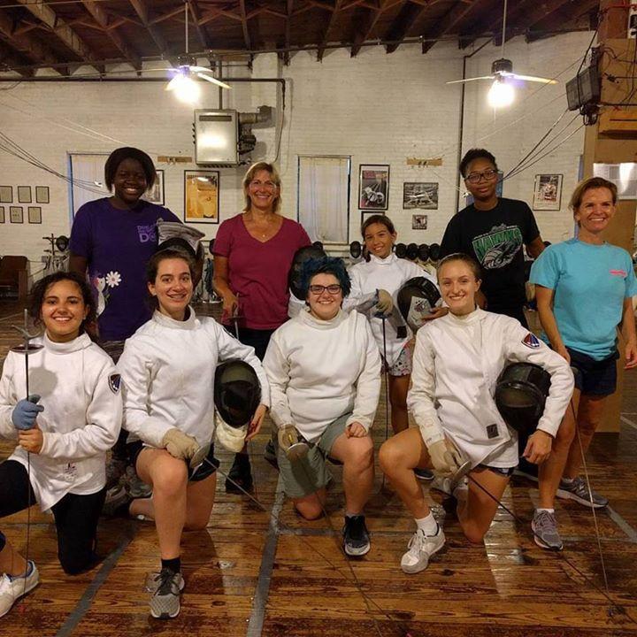 Wonderful all women's walk in fencing class on Fourth Friday! #WONDERwhatWOMAN