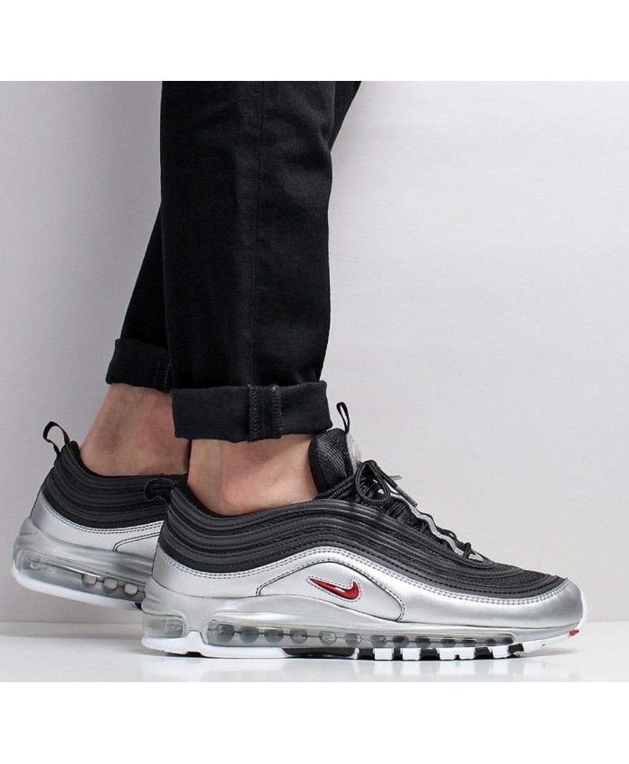 Nike Air Max 97 Qs Black Varsity Red Metallic Silver White