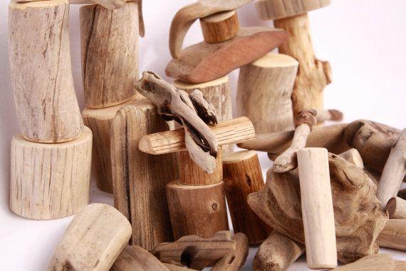 Driftwood Blocks 40 pieces Assorted Set by AffordableWaldorf