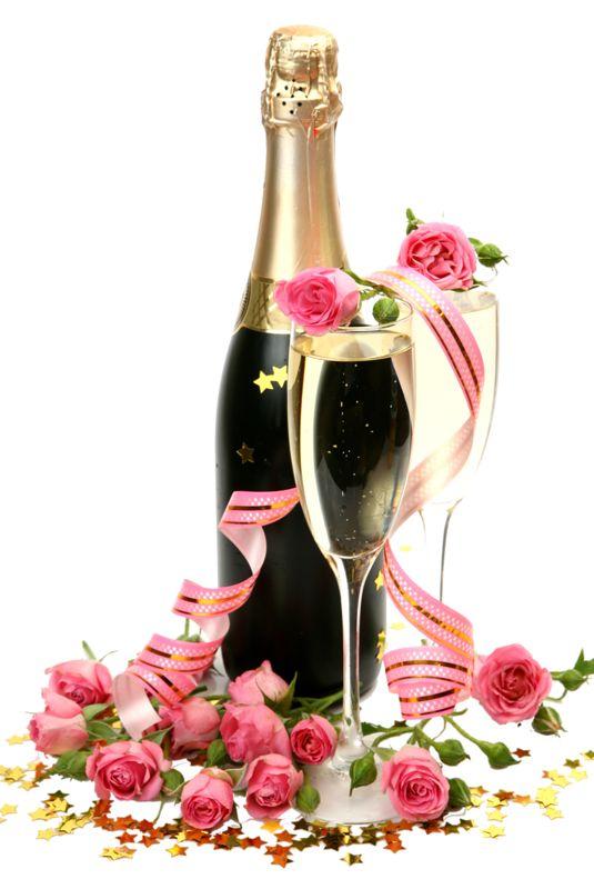 Открытки с цветами и шампанским, картинки карандашом