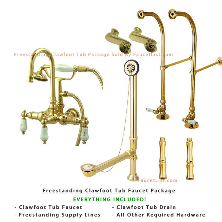 clawfoot tub faucet floor mount. Freestanding Floor Mount Polished Brass Hot Cold Porcelain Lever Handle Clawfoot  Tub Filler Faucet with Hand Shower Package 9T2FSP 120 best Tubs and Hardware images on Pinterest
