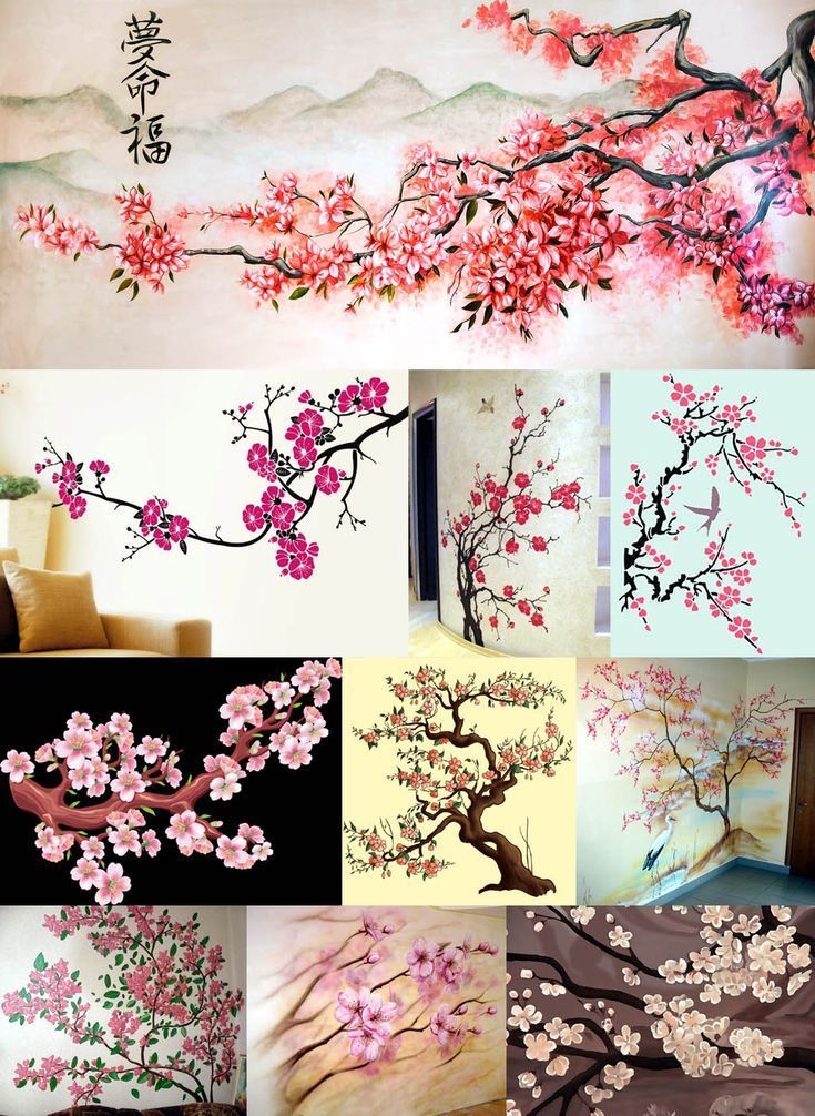 Drawing On The Wall With Own Hands In The Apartment And Apartment Drawing Hands Wall Painting Decor Diy Wall Painting Tree Wall Painting