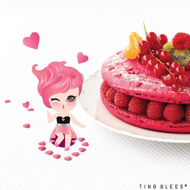 Let's have sweets and fighting for the fresh day~!!  . #tingglees #tingglee #strewberry #heart #pink #fairy #character #cake #팅글리 #딸기 #chu #츄 #핑크 #상큼 #요정 #캐릭터 #달콤한요정 #케이크 #케이크스타그램